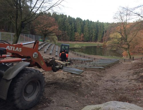Hier wird fleißig umgebaut! – Wildpark Schwarze Berge
